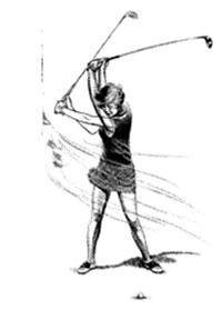Giocare a golf contro vento