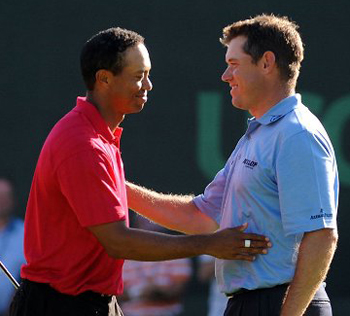 Tiger Woods e Lee Westwood passa al comando della classifica