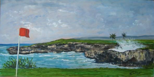 """Sul mare"", olio su tavola 30 x 60"
