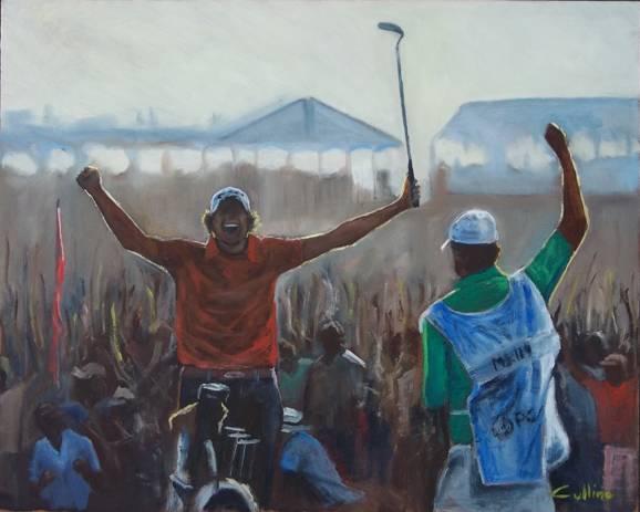 """""""Vittoria"""", olio su tavola 40 x 50"""