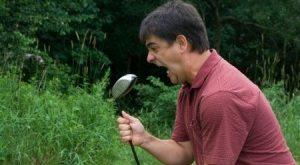 Golfista arrabbiato