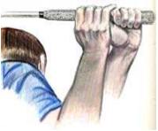 Grip immagina di stringere una spugna bagnata